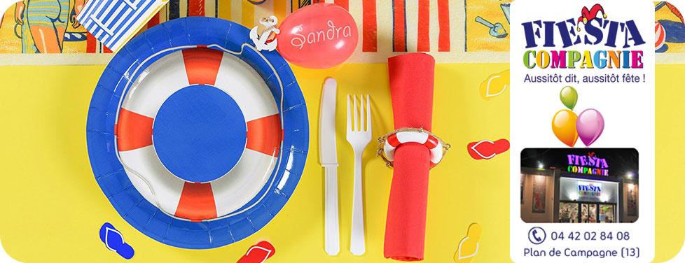 slide decoration table ludique - Magasin Fêtes