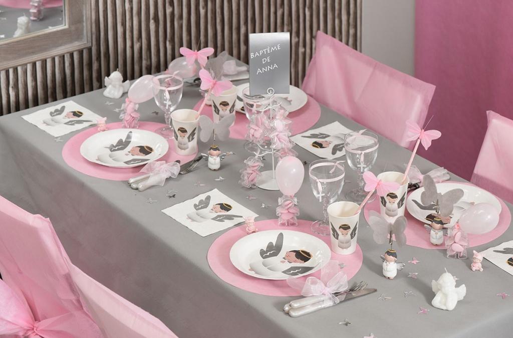 Bapteme Communion Mariage Decoration De Table Fiesta Compagnie