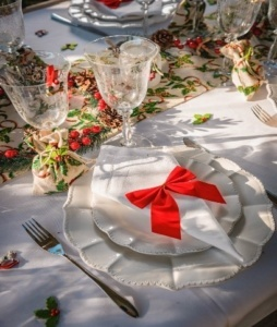 Tables décorations déguisements de Noël